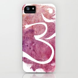 watercolor om 01 iPhone Case