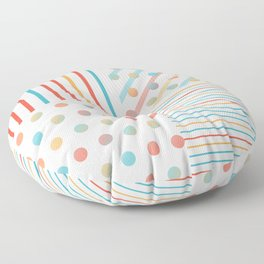 Simple saturated pattern Floor Pillow