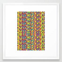 Pixels Framed Art Print
