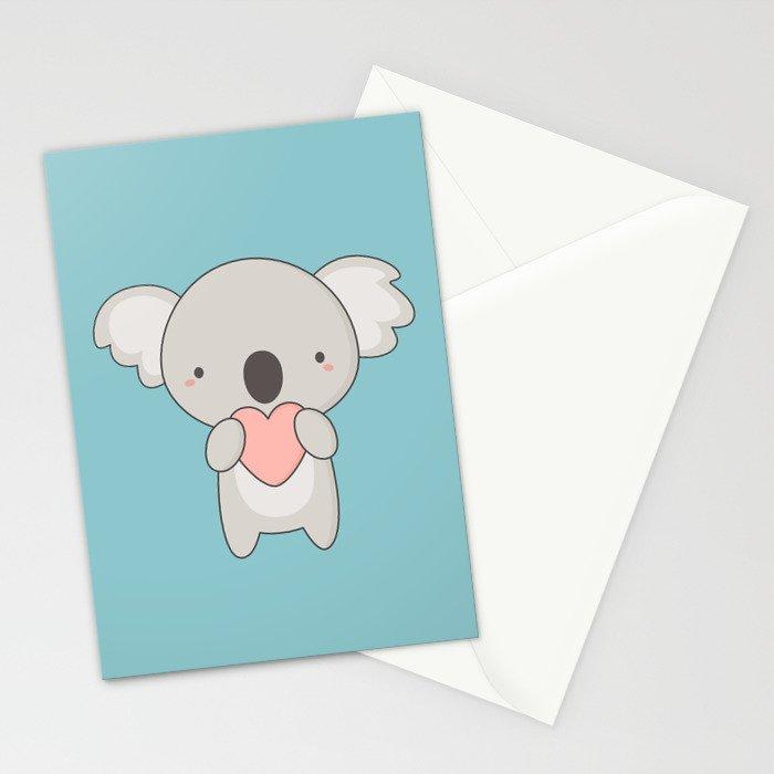 Kawaii cute koala bear stationery cards by wordsberry society6 m4hsunfo