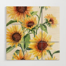 Sunflowers Wood Wall Art