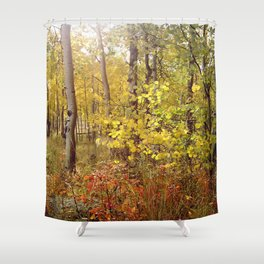 You Can Just Hear the Breeze Through the Trees  Shower Curtain