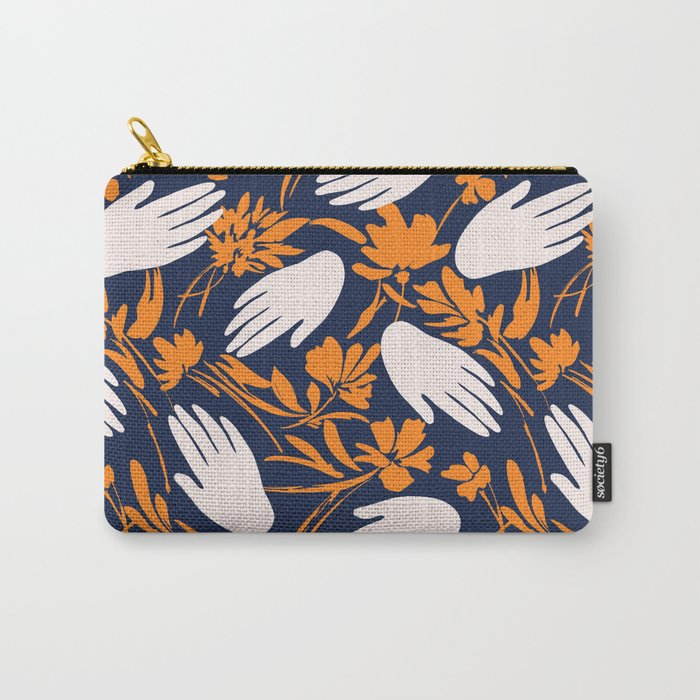 Hands brushstrokes nature Carry-All Pouch