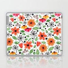 Dandelions & Flowers / White Laptop & iPad Skin