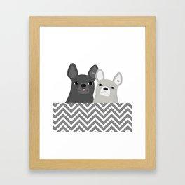 Dog friends Framed Art Print