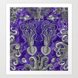 The Kraken (Purple - NoText, Alt.) Art Print