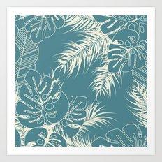 Tropical pattern 038 Art Print
