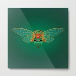 Green Grocer Cicada Metal Print