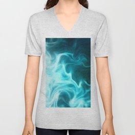 Atmospheric Cyan Movement3 Unisex V-Neck