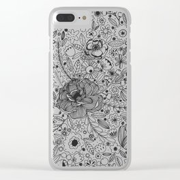 Flowers Flowers Clear iPhone Case