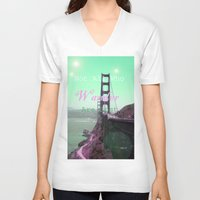 wander V-neck T-shirts featuring Wander by Suzanne Kurilla