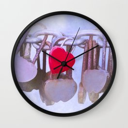 Faded Love Wall Clock