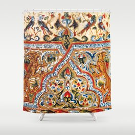 old motives / colorful / Armenian  Shower Curtain