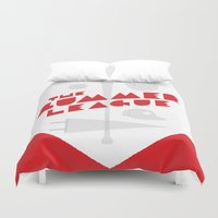 league Duvet Covers featuring The Summer League by Christopher P. Cacho