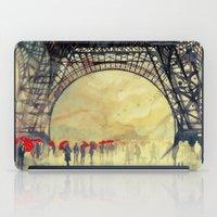 paris iPad Cases featuring Winter in Paris by takmaj