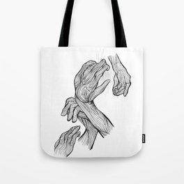 4 Hands Tote Bag