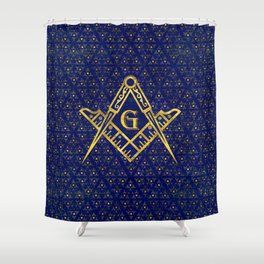 Freemasonry symbol Square and Compasses Shower Curtain