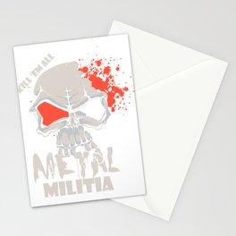 Kill Em All Metal Militia Skull Stationery Cards