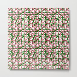 Squiggly Candy Canes for Christmas Metal Print