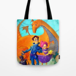 Space Charachters Tote Bag