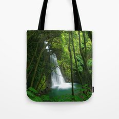 Waterfall in the Azores Tote Bag