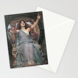 CIRCE OFFERING THE CUP TO ULYSSES - JOHN WILLIAM WATERHOUSE Stationery Cards