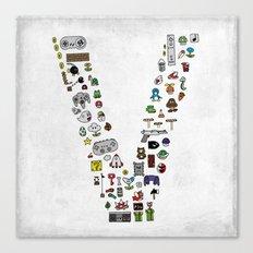 letter V - Nintendo Classics Canvas Print