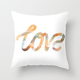 "The Love Series - ""Love"" #2 (typography) Throw Pillow"