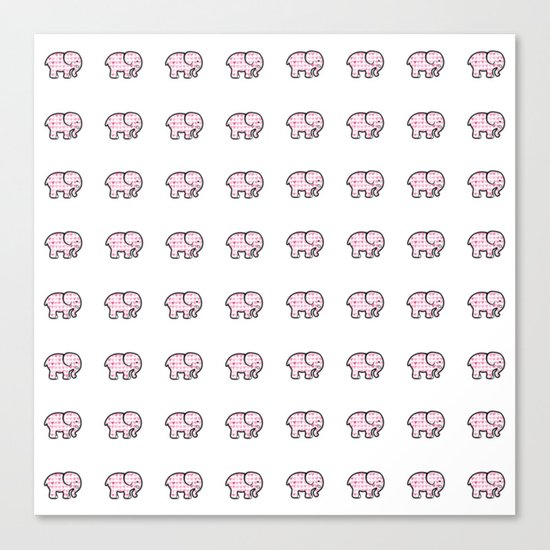 Elephant Hearts ( Girlfriend Valentine's Day  Gifts / Valentine Gift ) Canvas Print