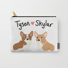 """Custom Cute Dog Art """"Tyson & Skylar"""" Carry-All Pouch"""