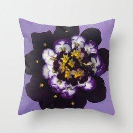 Spring Bouquet Wreath Throw Pillow