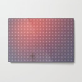 Peach Fuzz Dots Metal Print