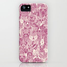 canadian animals cherry pearl iPhone Case