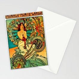 Vintage Monaco Monte-Carlo Poster Stationery Cards