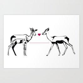 Gazelle Dama  Art Print