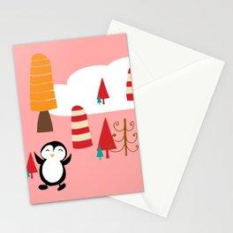 Oriana Penguin pink Stationery Cards