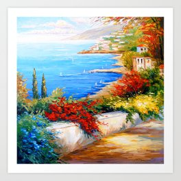 Bright day by the sea Art Print