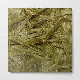 Golden fibers Metal Print