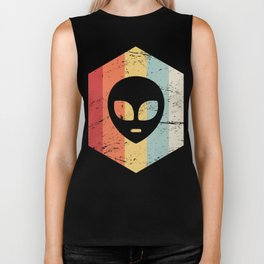 Retro Alien UFO Icon Biker Tank