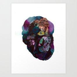 Skinless Turkey Face Art Print