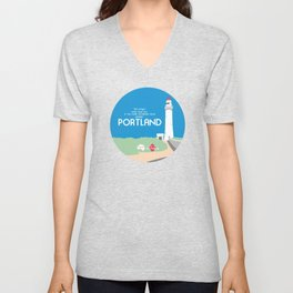 Do Not Visit Portland Unisex V-Neck