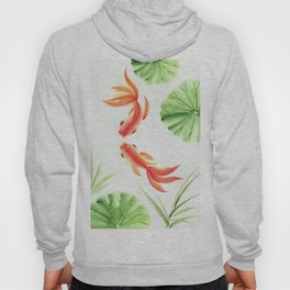 Gold fishes painting Hoody