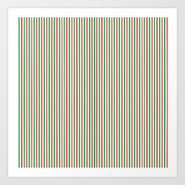 Christmas Time for Stripes Art Print