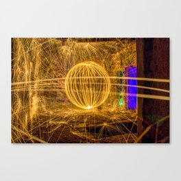RUINED - Light Painting Canvas Print