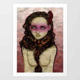 Trenza Art Print