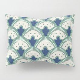 Fan Pattern Blue/Green Pillow Sham