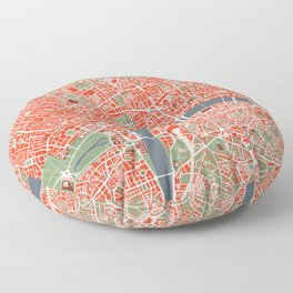 London city map classic Floor Pillow