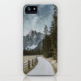 Road to the mountains iPhone Case