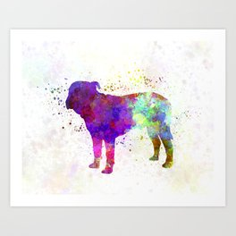 Majorca Mastiff in watercolor Art Print