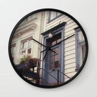 norway Wall Clocks featuring Norway II by Cynthia del Rio